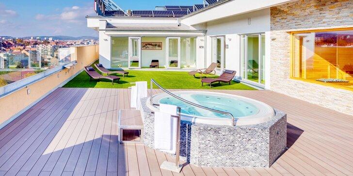 4* hotel v Brne: raňajky, večera a strešné wellness