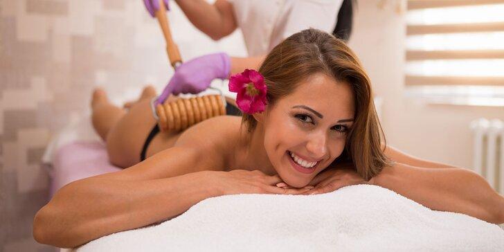 Anticelulitídna masáž valčekmi v Diva Beauty na boky, stehná, brucho aj zadok