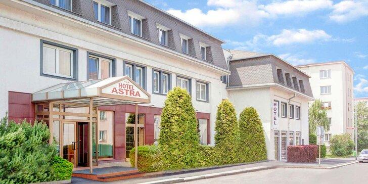 3* hotel Astra v pokojnej časti Prahy: pobyt s raňajkami