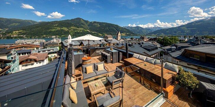 Dovolenka v rakúskom Zell am See: hotel v centre mesta, strešná terasa a raňajky