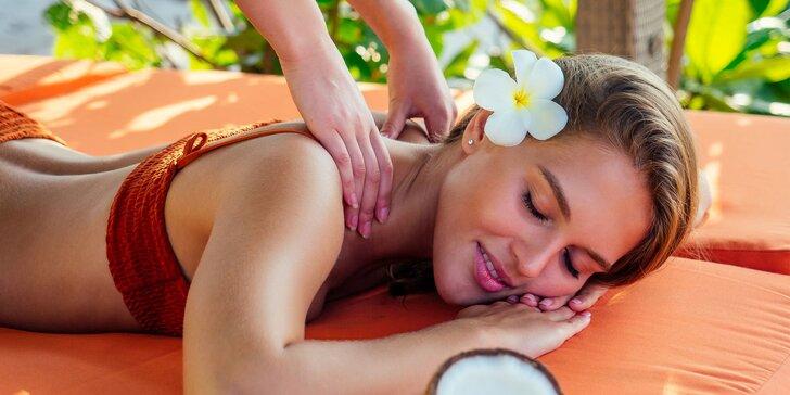 Relaxačná kokosová masáž či anticelulitídna masáž so škoricovým zábalom