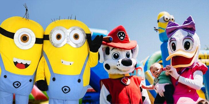 4-hodinový prenájom rozprávkových maskotov na detské oslavy