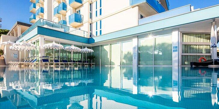 Letná dovolenka v Bibione: 3* hotel len 50 m od mora, s bazénom a raňajkami