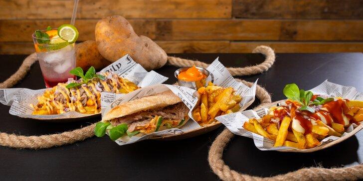 Street food Fryday: belgické hranolčeky, trhané bravčové i hovädzie mäsko či flaguette menu