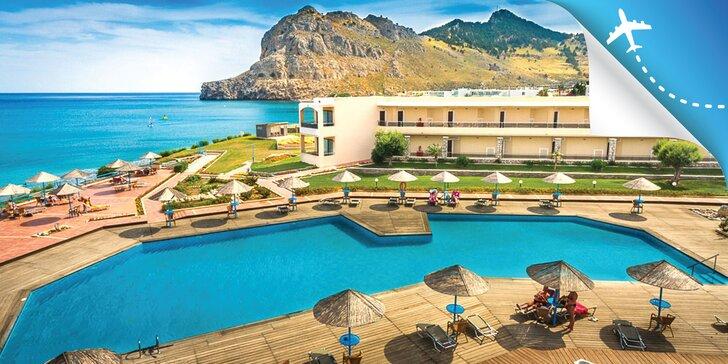 4* relax na Rhodose: hotel na pláži s bazénom a all inclusive