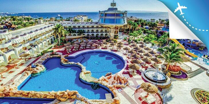 Dovolenka v 4* hoteli s all inclusive a privátnou plážou v centre obľúbeného letoviska Hurghada