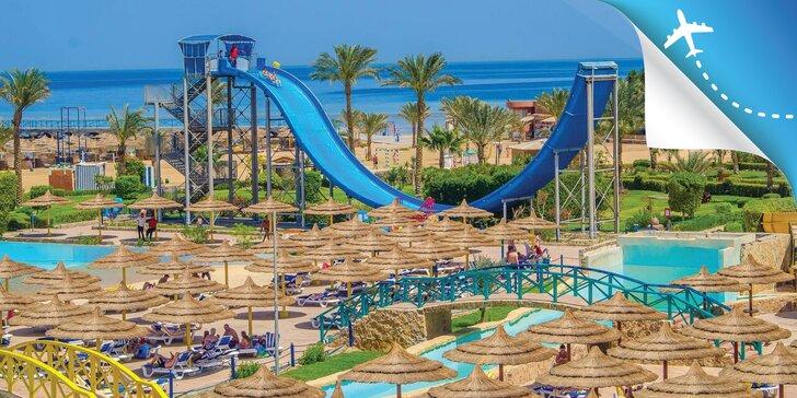 All inclusive dovolenka v Hurghade: 5 * hotel na pláži, aquapark, animačný program
