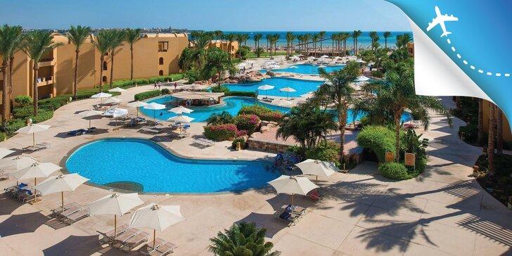 All inclusive dovolenka v Egypte: 4* rezort pri pláži, bazény, animačné programy