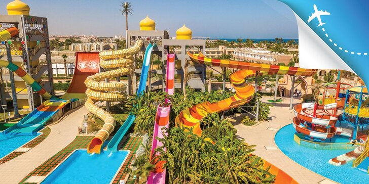 All inclusive dovolenka v Hurghade: letenka, 4 * hotel pri pláži a aquapark