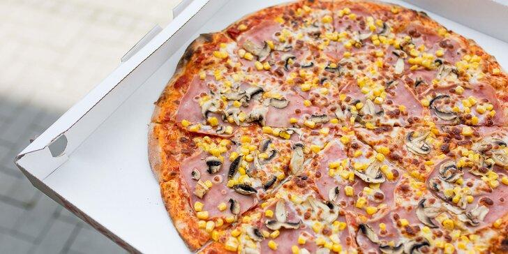 Malá či veľká pizza podľa vlastného výberu – osobný odber i donáška zdarma