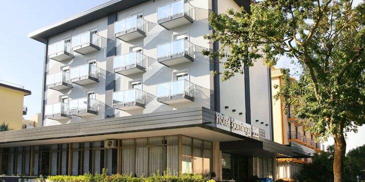Dovolenka v letovisku Lido di Jesolo: hotel s polpenziou, 100 m od súkromnej pláže