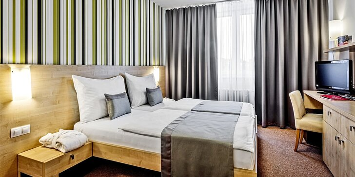 Pobyt v 4* hoteli v Brne pre páry i rodiny: jedlo, relax v saune i vstupenky do BRuNo family parku