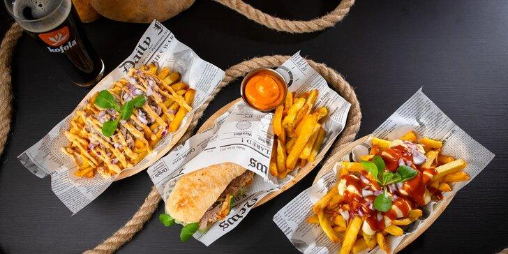Street food Fryday: belgické hranolčeky, flaguette menu či trhané bravčové mäsko