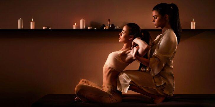 Celotelová thajská relaxačná masáž s použitím esenciálnych olejov