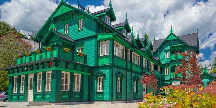 Ubytovanie ako pre kráľovskú rodinu: novozrekonštruovaná Wisła Cechini s raňajkami, večerou a vstupom na vyhliadkovú vežu