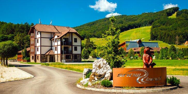 Pobyt v nových Apartmánoch GOLF & SKI – rodinný dovolenkový raj vo Valčianskej doline s atrakciami pre deti