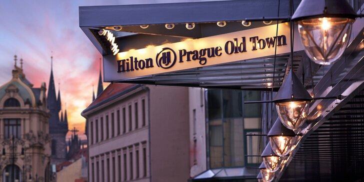5* hotel Hilton v pražskom Starom Meste: raňajky, neobmedzený vstup do wellness a zážitky