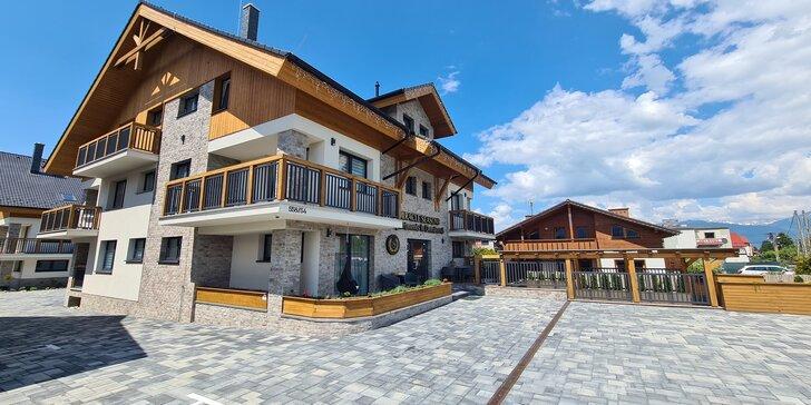 Luxusný pobyt v úplne nových apartmánoch v blízkosti Jasnej: každodenný wellness a platnosť aj na zimnú sezónu