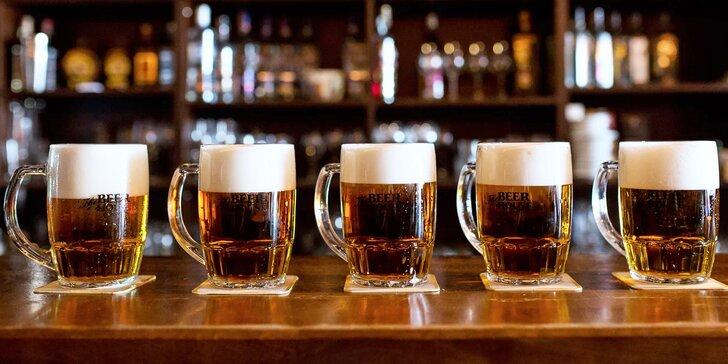 PÄŤ VEĽKÝCH PÍV The Beer House Craft 10° z remeselného pivovaru