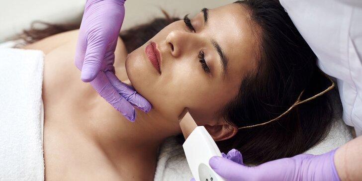 Ošetrenie pre každý typ pleti skin scrubberom a galvanickou žehličkou+ úprava obočia
