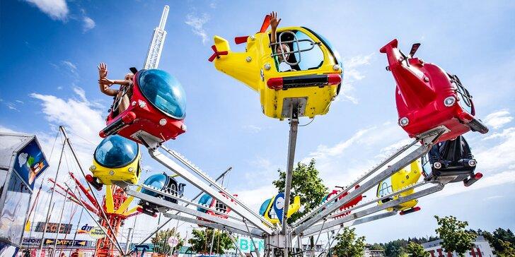 Skvelá zábava na atrakciách v lunaparku v Žiline