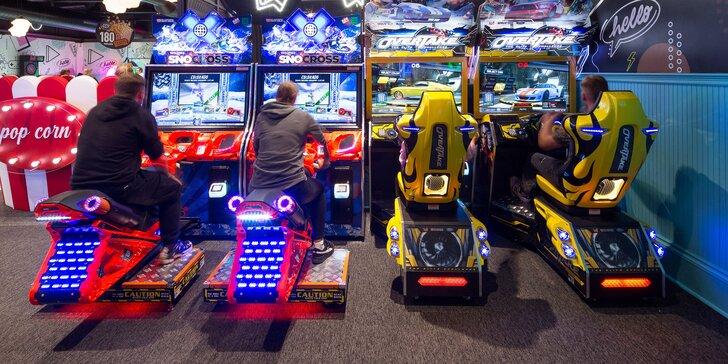 Zvýhodnené kredity na zábavu pre celú rodinu v najmodernejšom centre s hracími videohrami a automatmi na Liptove ako z amerického filmu