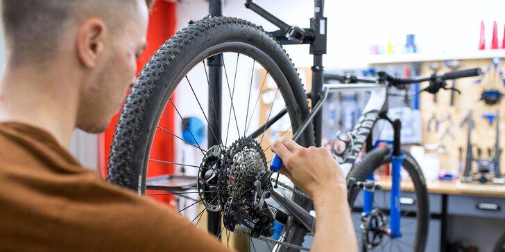 Malý, stredný alebo veľký servis hardtail či celoodpruženého bicykla