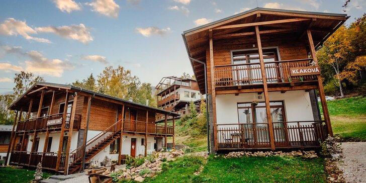 Pobyt v apartmánových domčekoch PLANINA s wellness v obľúbenom rezorte Predná Hora