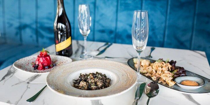 Romantická 3-chodová večera s fľašou vína v eurázijskej reštaurácii Chilai