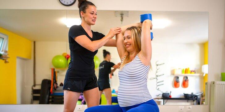 Fit s bruškom: 4-vstupová permanentka na cvičenia pre tehotné ženy
