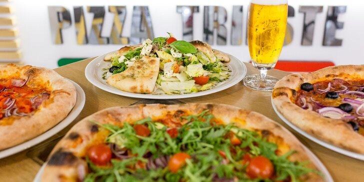 Talianska pizza podľa vlastného výberu alebo letný tuniakový šalát + pivo