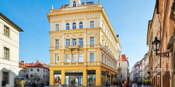 Luxusné zázemie v samotnom srdci Prahy: 5* hotel, secesné izby a bohaté bufetové raňajky