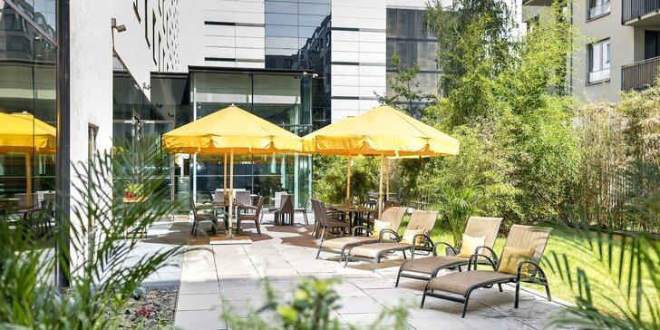 Dovolenka v Prahe: moderný hotel na Smíchove, raňajky aj terasa vo vnútrobloku