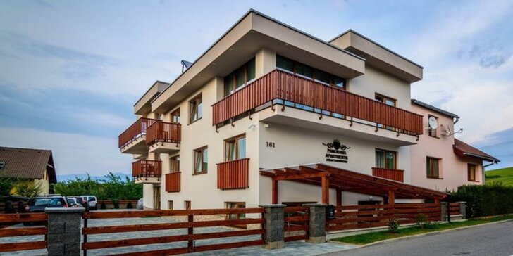 Dovolenka na Liptove: moderné apartmány Panorama so stravou, wellnessom a atrakciami pre všetkých