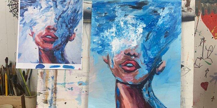 Zážitkové maľovanie v Art Atelieri A- vstup pre šesť osôb za cenu piatich