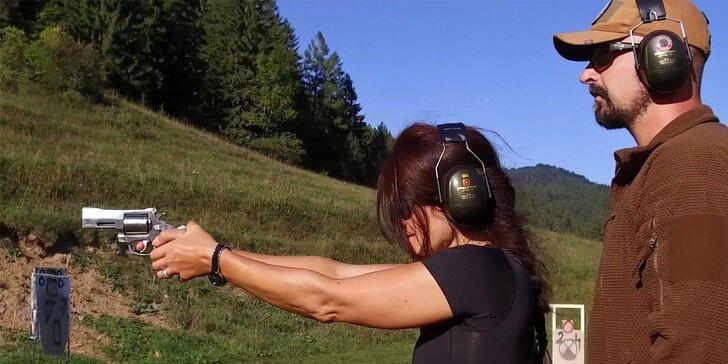Jedinečný strelecký zážitok s lekciou sebaobrany podľa systému KRAV MAGA - vhodné aj pre ženy