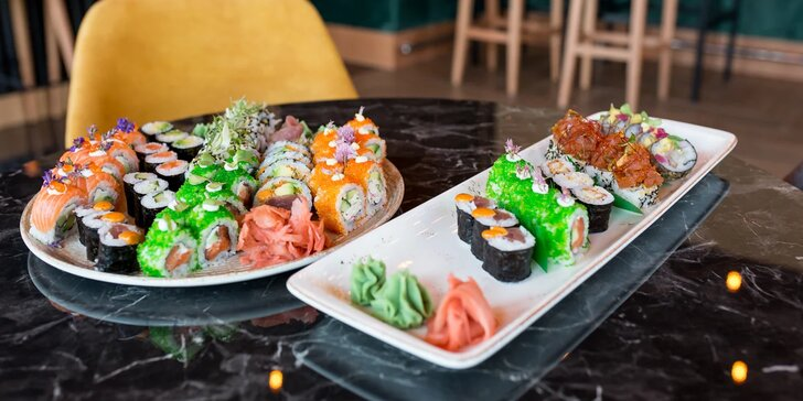 Sushi sety v novotvorenej sushi reštaurácii Chilai v Košiciach
