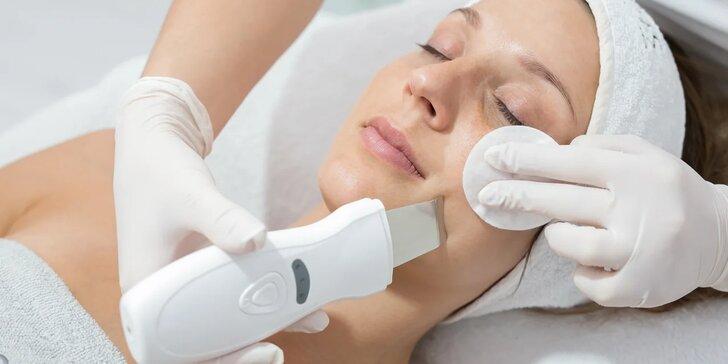 Kompletné ošetrenie pleti s masážou, skin scrubber v Beauty salon Simone