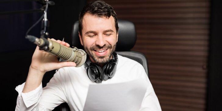 Zážitkové moderovanie LIVE vysielania vo FIT FAMILY RÁDIO + certifikát