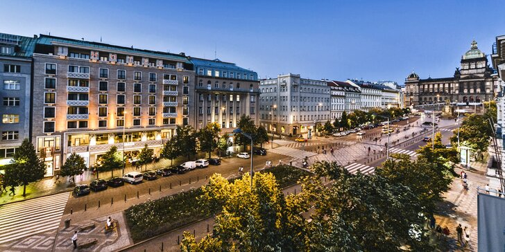 5* pobyt v centre Prahy: hotel priamo na Václavskom námestí s raňajkami