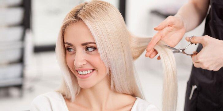 Dámsky strih s fúkanou či zábalom na vlasy v kaderníctve MMK