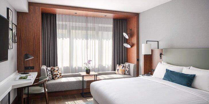 5* hotel Marriott v centre Prahy: raňajky a občerstvenie alebo brunch, parkovanie aj lístok na MHD