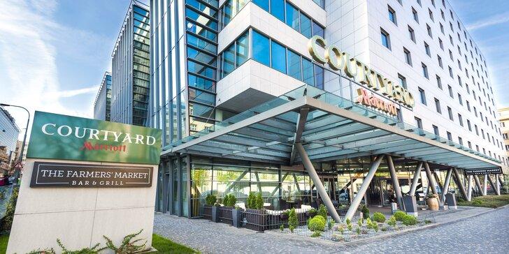 Pobyt v hoteli Courtyard by Marriott: výborná lokalita, chutné jedlo, víno i fitness, 2 deti majú pobyt zdarma