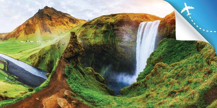 Čarovný ISLAND - horúce pramene, gejzíry, ľadovce, sopky, vodopády, Polárna žiara či zlatý okruh