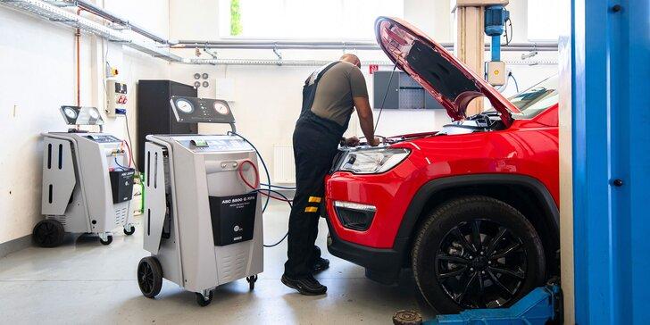 Plnenie klimatizácie chladivom či dezinfekcia auta ozónom