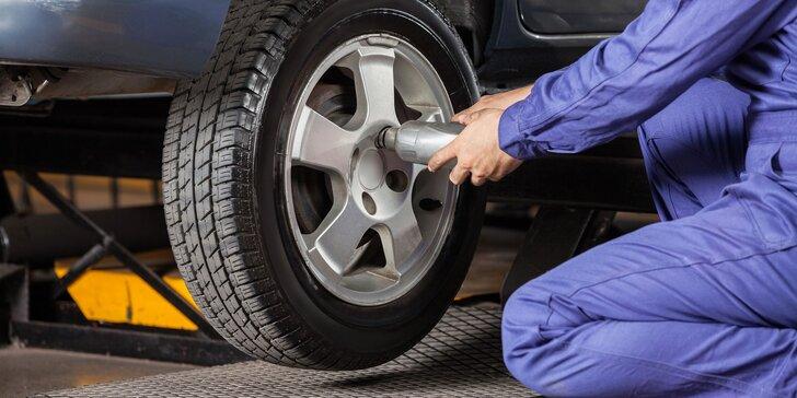 Prezutie pneumatík či výmena letných kolies za zimné s kontrolou bŕzd a podvozku