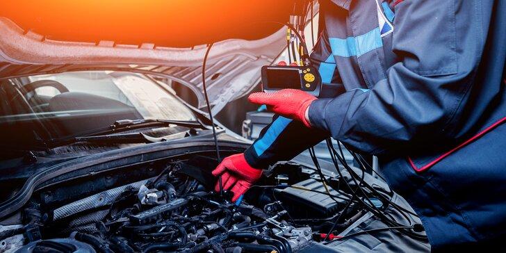 Diagnostika vozidla s mazaním chýb, prípadne aj s kontrolou pneumatík, batérie i kvapalín