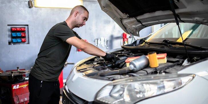 Výmena oleja a filtrov s materiálom v cene + servisná prehliadka vozidla