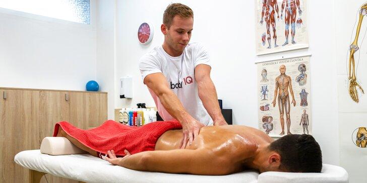 Klasická alebo terapeutická masáž, diagnostika pohybového aparátu či lymfodrenáž