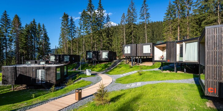 Dovolenka uprostred lesa v nových, unikátnych Björnson Tree Houses*** s neobmedzeným exteriérovým wellness, lanovkou a deťmi do 10r. zdarma!